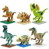 ArRord Lego Compatible Jurassic World Dinosaur Toy 6PCS Set Building Blocks Cartoon Movie Jurrassic Park 4 Dinosaur Bricks Toy