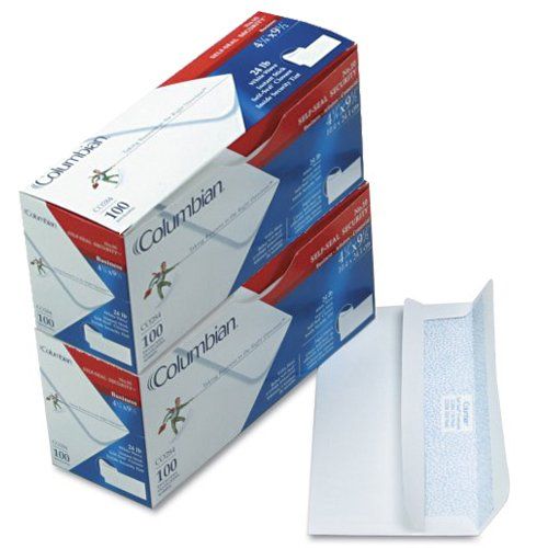 Columbian Envelopes No.10 Envelopes, Self-Seal, Security Tinted, 4-1/8 x 9-1/2 Inches, 2-Pack (73395)