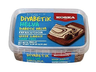 Koska Diabetic Halva with Cocoa 350 Gr / 12.35 Oz (No Sugar Added)