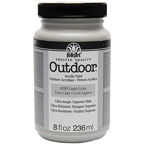 FolkArt Outdoor Paint in Assorted Colors (8 oz), 6280 Light Gray