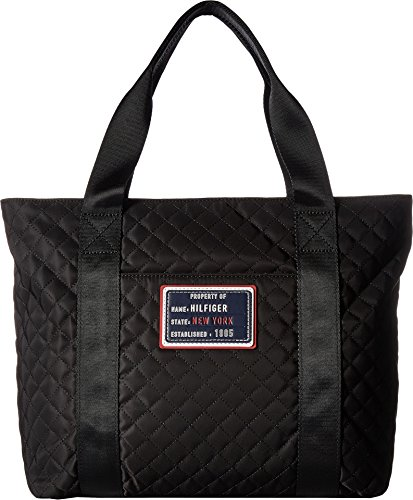 Tommy Hilfiger Women's Nylon Patch Quilt Shopper Black One - Quilt Shopper
