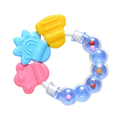 4U-Lucky Baby Rattle Toys Teether, Color Random : Baby