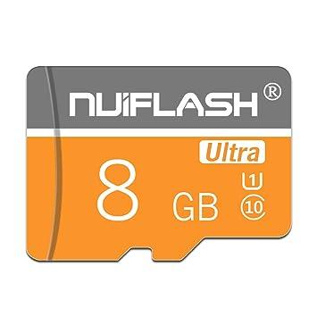 y2y3zfal NUI Flash Super Speed C10 Transmisión Micro SD TF Tarjeta de Memoria para cámara Altavoz Tarjeta de Memoria para teléfono Tableta 8GB