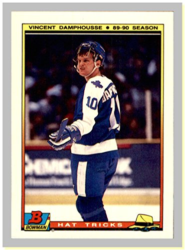 1990-91 Bowman Hat Tricks Tiffany #6 Vincent Damphousse TORONTO MAPLE LEAFS