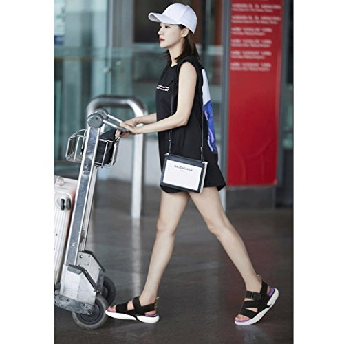 wilde 5 neue Schuhe beiläufige Größe Sommer Sandalen Sport weiblichen wild flache 6 koreanische 7ZxSXSpq