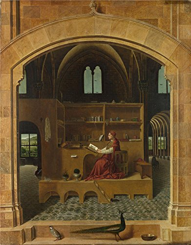 Oil Painting 'Saint Jerome In His Study About 1475, Antonello Da Messina', 16 x 20 inch / 41 x 52 cm , on High Definition HD canvas prints is for - Zone Da Store Dress