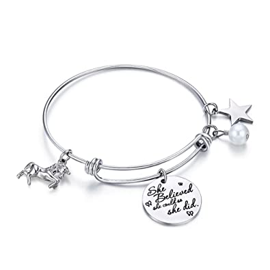 Wire Bangle Charm Bracelets | Amazon Com Anotherkiss Inspirational Stainless Steel Jewelry Gift