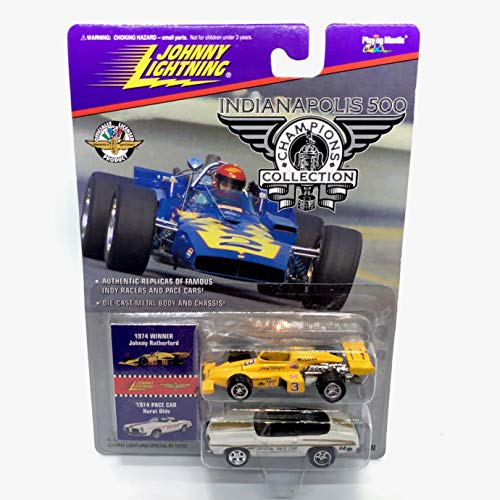 Johnny Lightning 1974 Johnny Rutherford & Hurst Olds Pace Car Indianapolis 500 Champions Series 2 1996 Playing Mantis 1:64 Scale Authentic Replicas of Famous Indy Winners Die Cast Vehicle 2-Pack