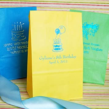 Amazon.com: Personalizado Fiesta de cumpleaños Goodie bolsas ...