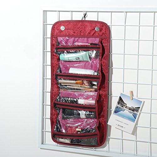 女性は簡単な旅行のためにロールアップ化粧バッグ大容量収納袋 YZUEYT