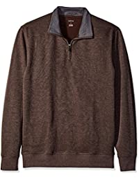 Men's Big and Tall Long Sleeve Spectator Solid 1/4 Zip Shirt