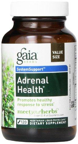 Gaia Herbs surrénalienne Liquide Santé Phyto-capsules, 120 comte