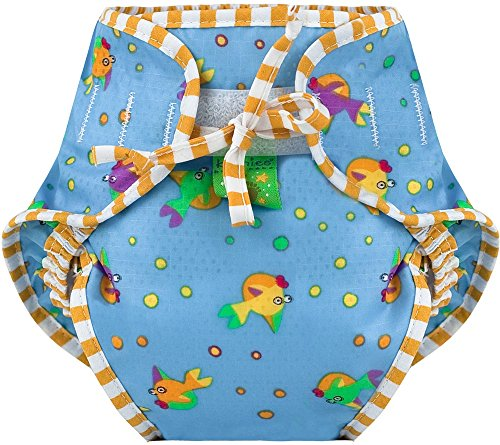 Kushies Swim Diaper, Goldfish Print, Large