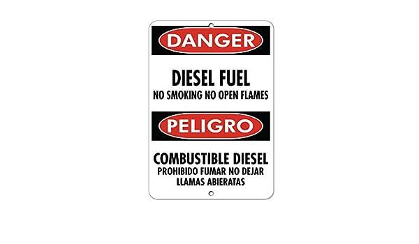 Amazon com: Danger Diesel Fuel No Smoking Open Flames Hazard Sign