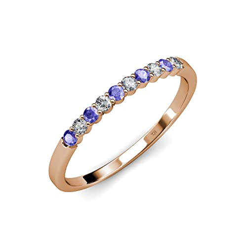 Amazon com: TriJewels Tanzanite and Diamond (VS2-SI1, F-G