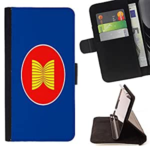 - Flag - - Premium PU Leather Wallet Case with Card Slots, Cash Compartment and Detachable Wrist Strap FOR Samsung Galaxy G360 G3608 G3606 King case