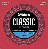D'Addario EJ27H Student Nylon Classical Guitar Strings, Hard Tension