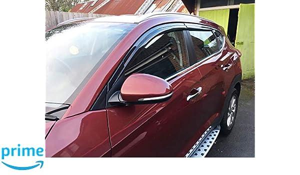 Amazon.es: Autoclover Hyundai Tucson 2015 + Set de deflectores de Viento (4 Piezas) (Moldeado)