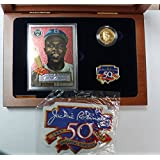 1997 Jackie Robinson Commemorative Gold Coin, Card, Pin, & Patch Set $5 Proof