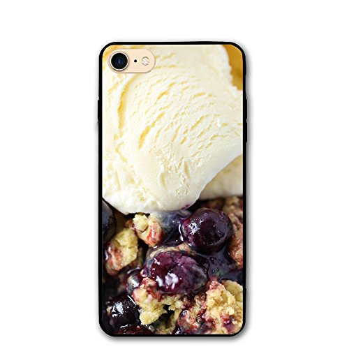 Printing Custom Design Blueberry Cobbler IPhone 8 Phone Case, Phone Cover, Slim Fit Shell Hard Plastic Case, Cellphone Handset Mobile Phone Shell Casing For IPhone 8
