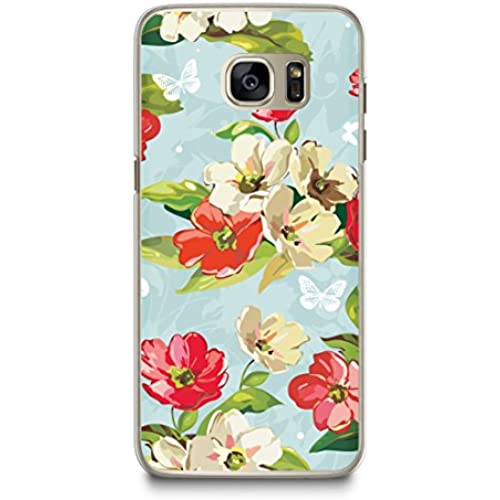 Case for Samsung S7, CasesByLorraine Floral Pattern Case Plastic Hard Cover for Samsung Galaxy S7 (E13-Blue) Sales