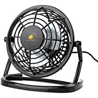 USB Mini Desk Fan, Portable Ultra Quiet Mini 4-Inch Personal Fan Mini Table Fan Laptop Computer PC USB Fan Cooler Desktop Cooling Small Fan 360° Up and Down Adjustable (Black)
