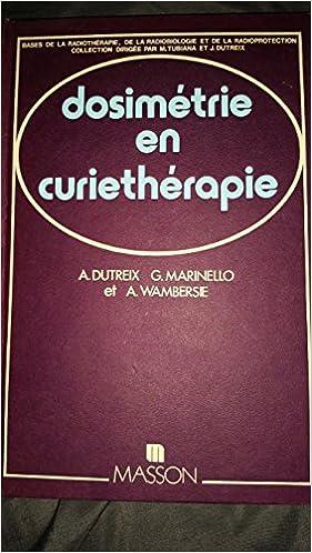Livres gratuits Dosimétrie en curiethérapie pdf