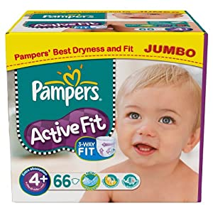 pampers active fit size 4 maxi jumbo pack 66 nappies pack of 2 health. Black Bedroom Furniture Sets. Home Design Ideas