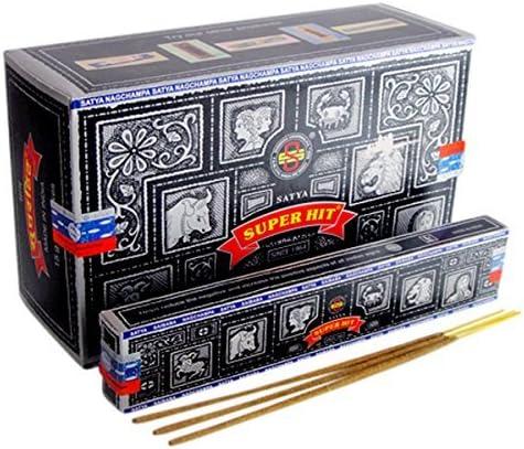 Amazon Com 6 X Boxes Of 15g Nag Champa Incense Sticks Bulk Pack Quality Super Hit Home Kitchen
