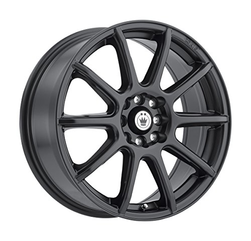Konig CONTROL Matte Black Wheel with Painted Finish (15 x 6.5 inches /4 x 100 mm, 40 mm Offset)
