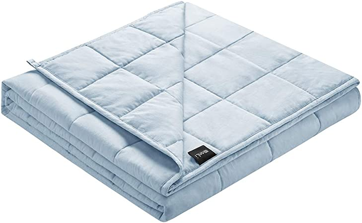 20lbs Home Weighted Blanket Crystal Velvet Fabric w//Glass Beads 60/'/' x 80/'/' Grey