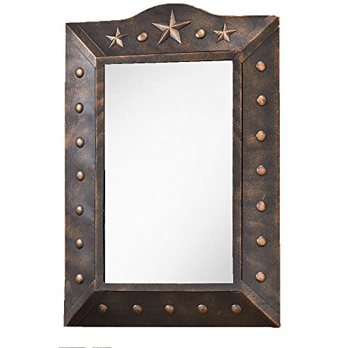 AR Country Store Western Metal Star Wall Mirror