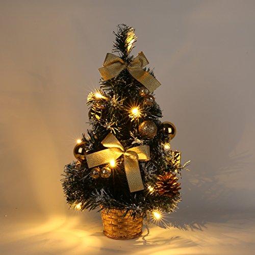 Majestic Large Pendant - Balai 15 Inch Majestic Pine Tabletop Artifical Led Light Up Christmas Tree Decor with Fiber Optics (Ship from USA)