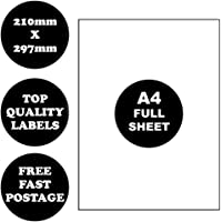 [Full A4 Page] A4 Self Adhesive Address Labels Laser Inkjet Print Mailing Stickers 100 Sheets