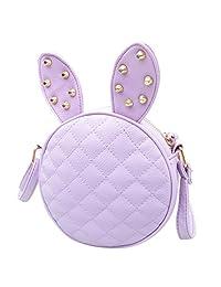 Bessky® Mini Cute Women Girl Rabbit Ear Round Leather Handbag Shoulder Messenger Bag