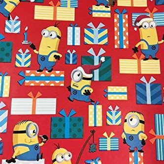 Image Unavailable  sc 1 st  Amazon.com & Amazon.com: Despicable Me Minions Christmas Wrapping Paper Gift Wrap ...