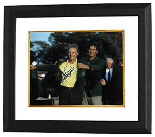 Bernard Langer Signed Autograph PGA 11x14 Photo Custom Framed 1993 Augusta National Masters Championship green jacket Fred Couples - Certified Authentic
