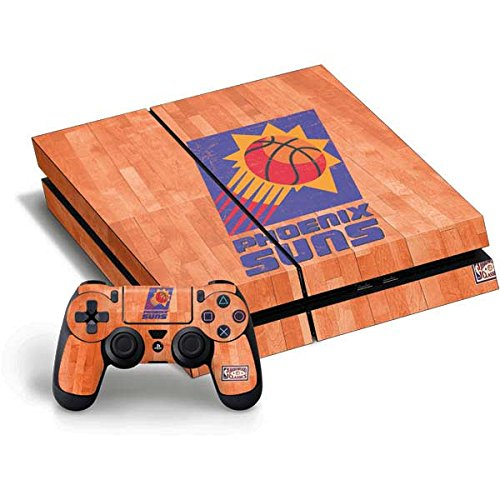 NBA Phoenix Suns PS4 Horizontal Bundle Skin - Phoenix Suns Hardwood Classics Vinyl Decal Skin For Your PS4 Horizontal Bundle by Skinit