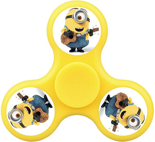 THinL Minions Fidget Spinner Despicable Me Hand Spinning Top Focusing Finger Toys High Speed Durable Bearing Stress Reducer for Relaxation ADD ADHD Anxiety for Adult Kids Yellow (Los Simpsons Halloween 2017)