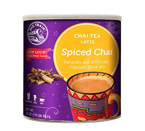 Big Train Spiced Chai Tea Latte, 1.9 Lb. (1 Count), Powdered Instant Chai Tea Latte Mix, Spiced Black Tea with Milk, For Home, Café, Coffee Shop, Restaurant Use Chai Latte Mix