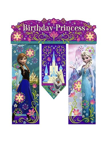 Hallmark Disney Frozen Birthday Banner - Birthday Party Supplies -