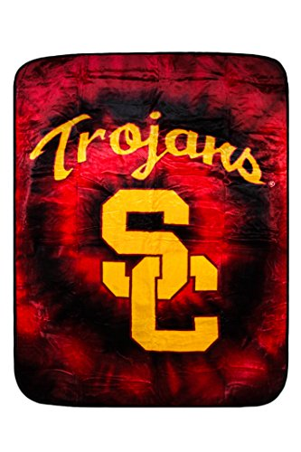 Northwest 5M-V9C7-K2BR Officially Licensed USC Trojans NCAA College Blanket/Throw Twin Size 60