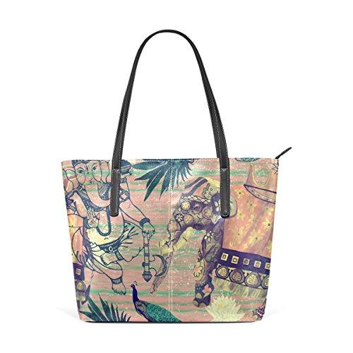 e5007c449073f Coosun indische Elefanten Blumen Ananas PU Leder Schultertasche Handtasche  und Handtaschen Tasche für Frauen