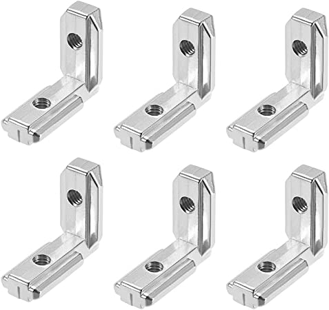 10pcs T Slot L-Shape Aluminum Profile Interior Corner Connector Joint Bracket HU