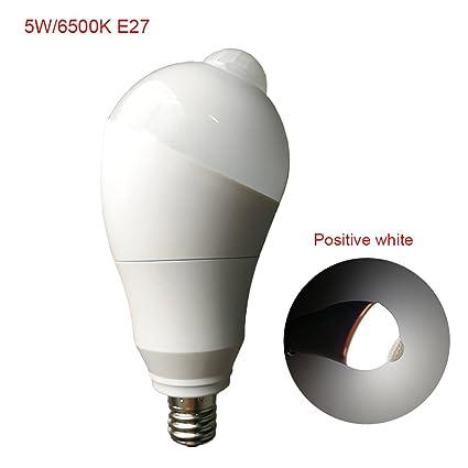 Cutowin - Bombilla LED con Sensor de Movimiento para escaleras, Garaje, Pasillo, Pasillo