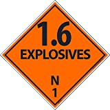 DL45ALV National Marker Dot Shipping Label, 1.6 Explosive N 1, 4 Inches x 4 Inches, Ps Vinyl 500/Roll