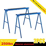Blackpoolfa 2pcs All Steel Folding Sawhorse (2-Pack, 39-Inch)