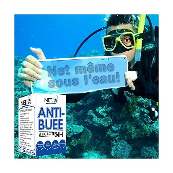 Netoa ® – Paquete de 120 toallitas antivaho para todo tipo de lentes, gafas graduadas, de sol, de natación, máscaras de buceo, prismáticos, ideales contra el vapor y el vaho 12