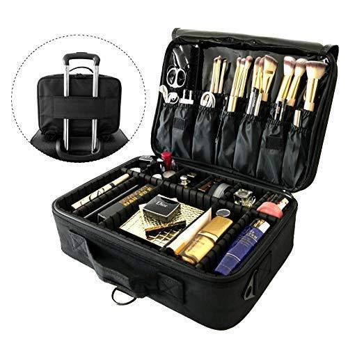 983eb4610 Neceser de aseo para viaje organizador de maquillaje bolsa de almacenamiento  portátil con separadores regulables para