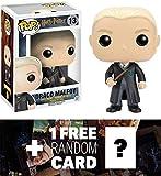 Draco Malfoy: Funko POP! x Harry Potter Vinyl Figure + 1 FREE Official Harry Potter Trading Card Bundle [65690]
